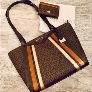 Michael Kors Whitney Tote and Wallet Set